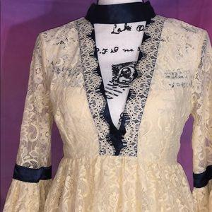 Free People Lace Backless Vintage Dress